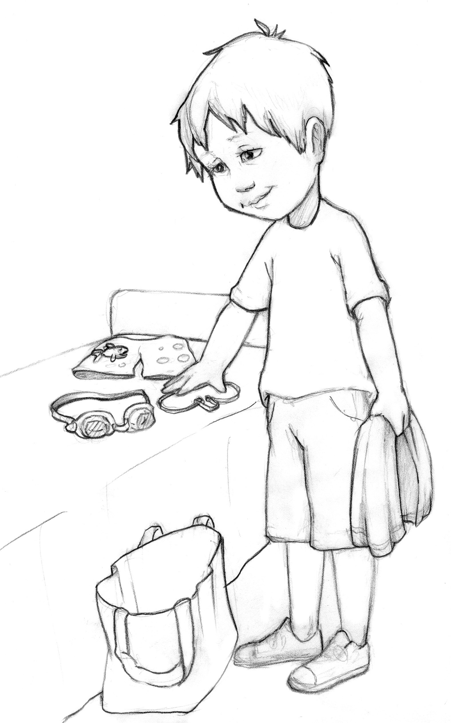 House Chores Pages Coloring Pages