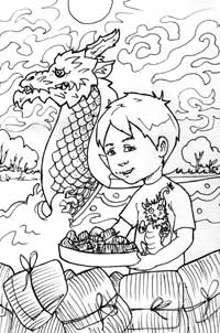Color Luca with a Dragon Boat