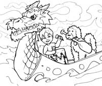 Color Luca with a Dragon Boat - 2